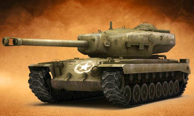 王者坦克满V版手游普通T30重型坦克