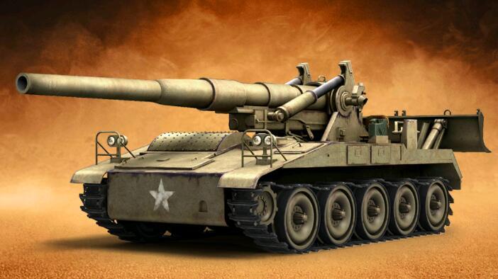 王者坦克满V版手游精英M107自行火炮